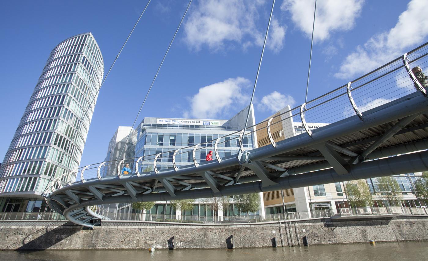 Bridge in central Bristol