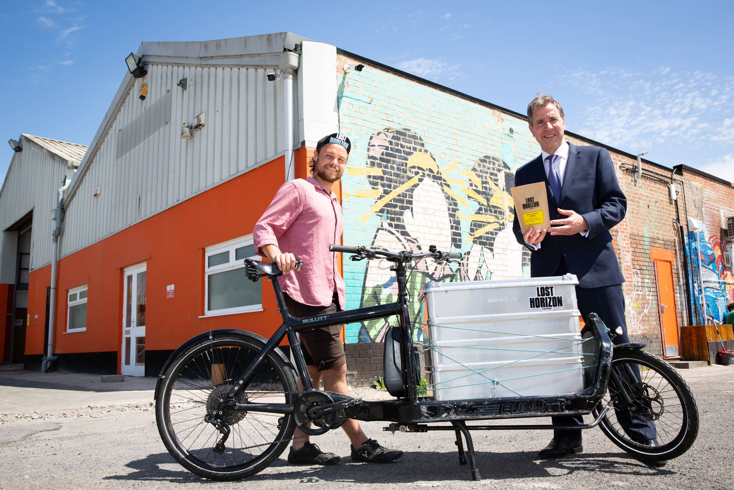 Cargo bike delivery man