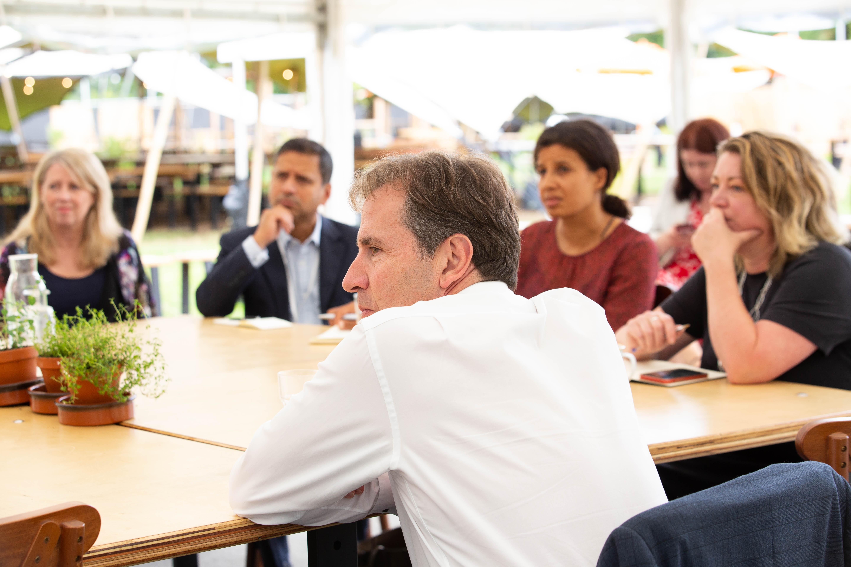 Dan Norris at a skills summit meeting