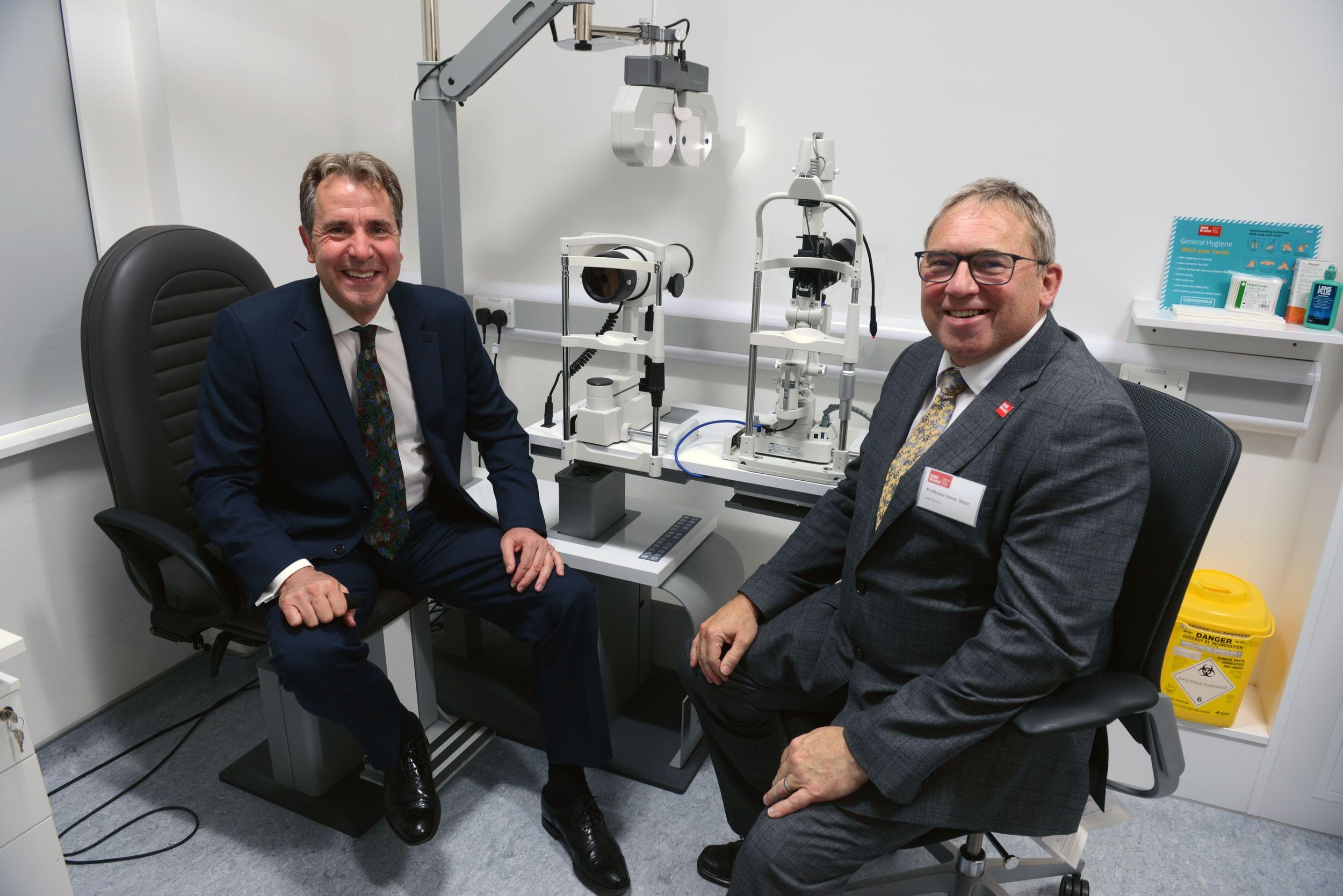 Dan Norris visits UWE Eye Clinic