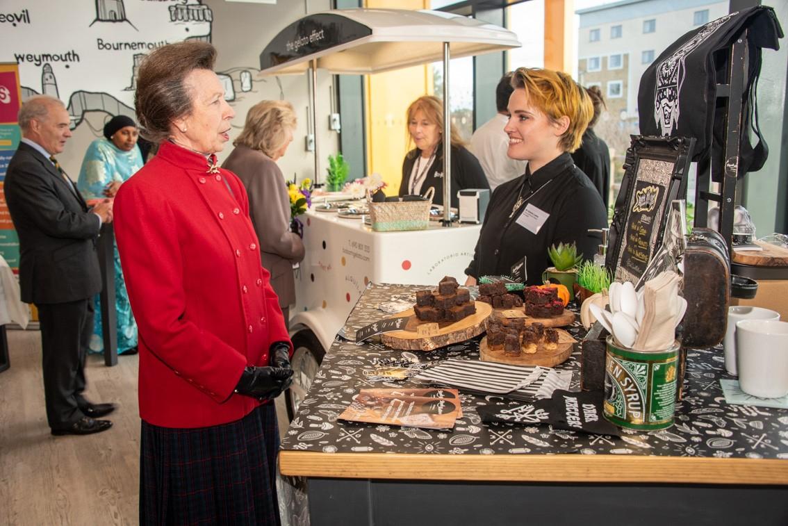 Princess Anne at SW FoodWorks