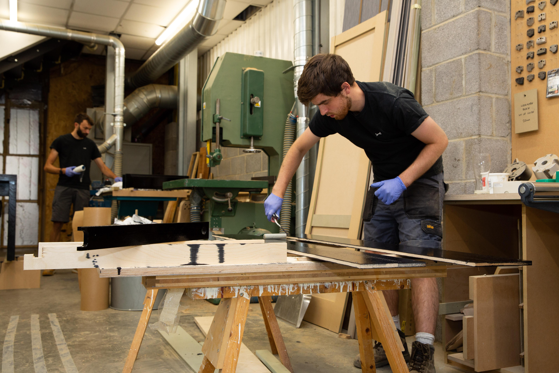 Apprentice in workshop