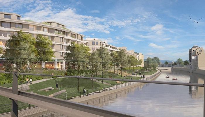 Artists impression for new office and mixed development of Bath Quays North
