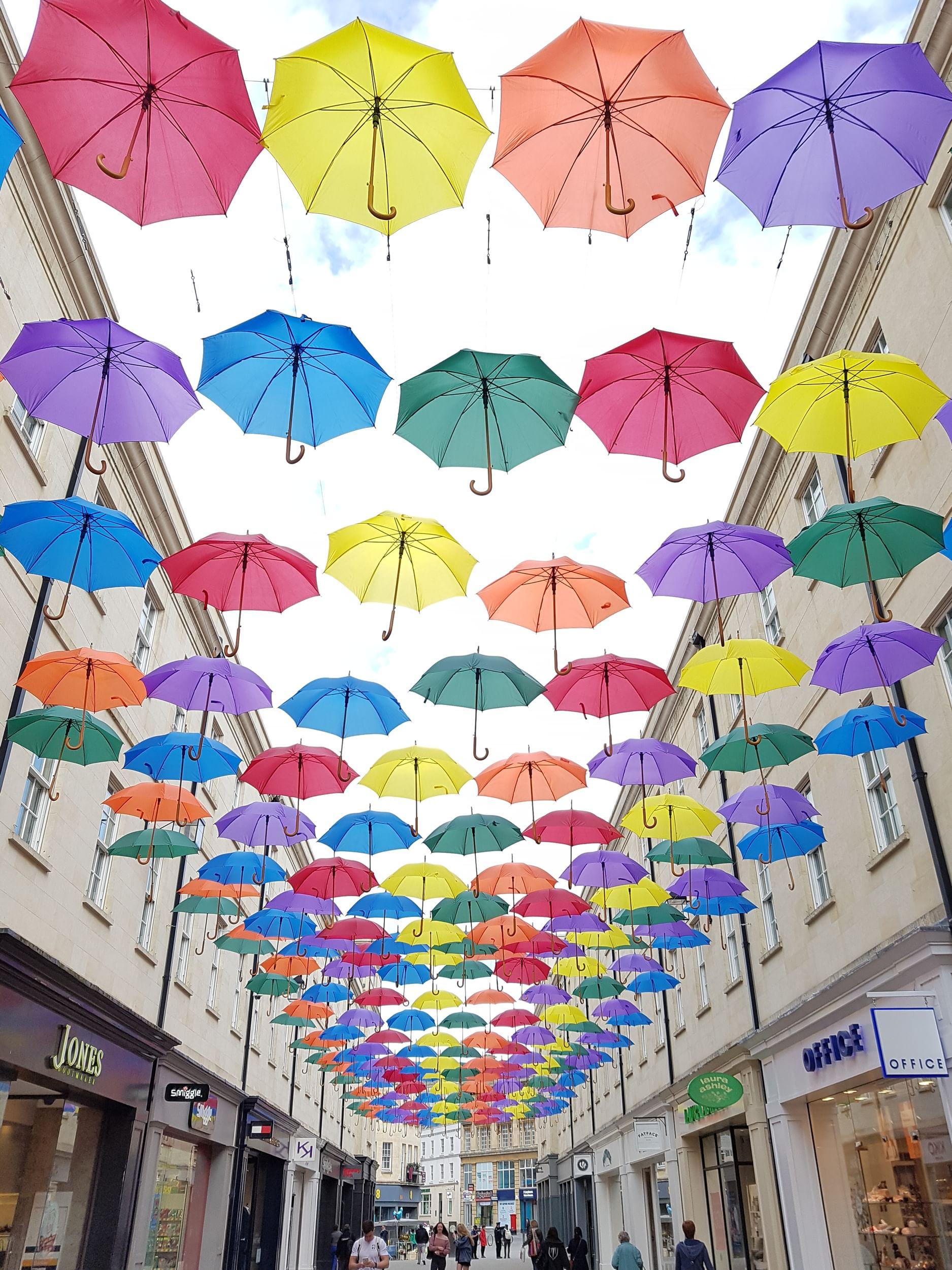 Umbrella artwork in Bath