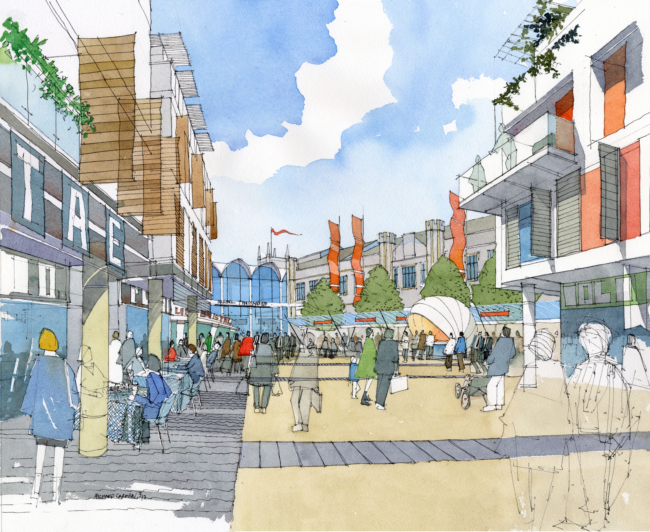 Artists impression of the new Eastern Entrance at Bristol Temple Meads