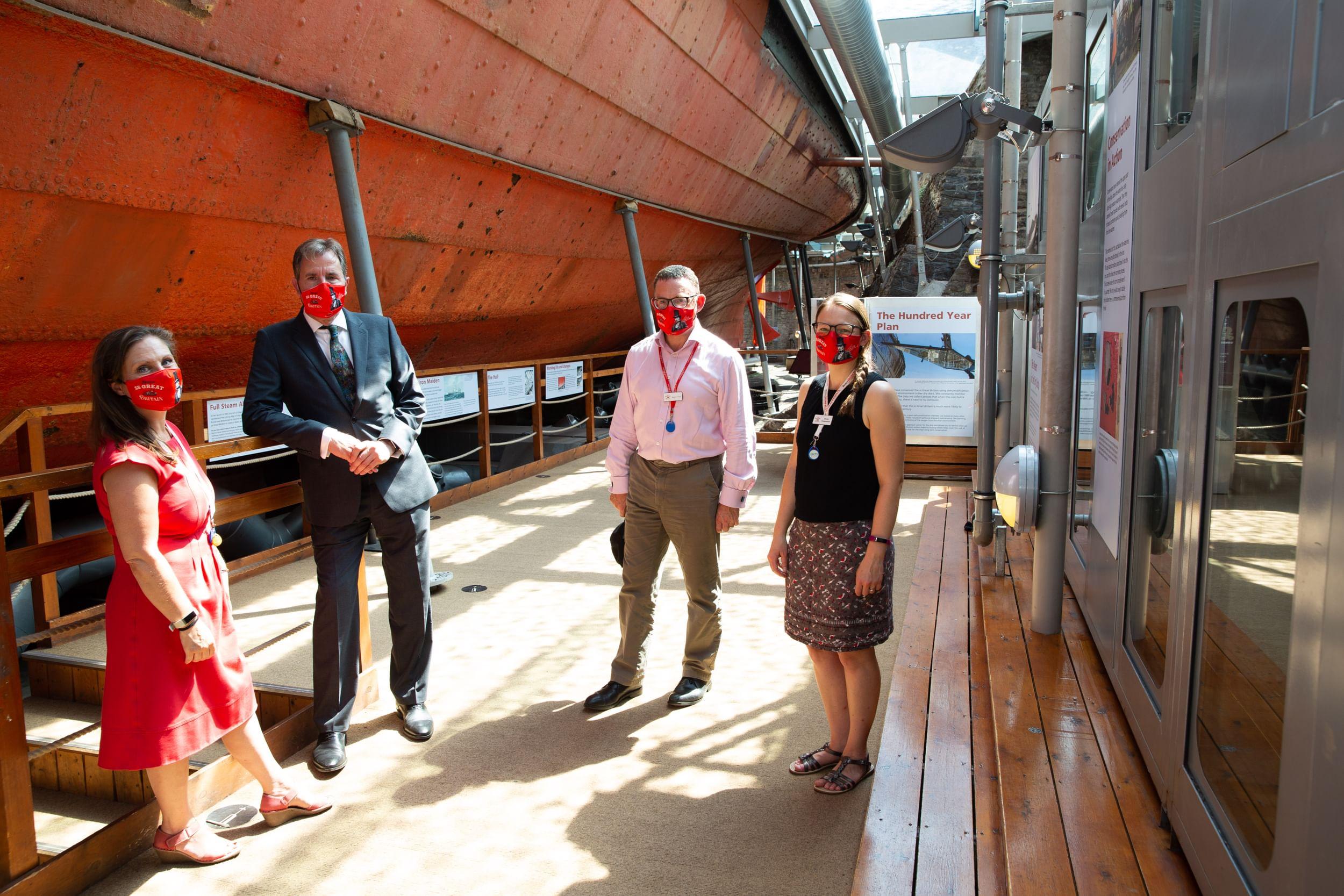 Metro Mayor Dan Norris at the SS Great Britain