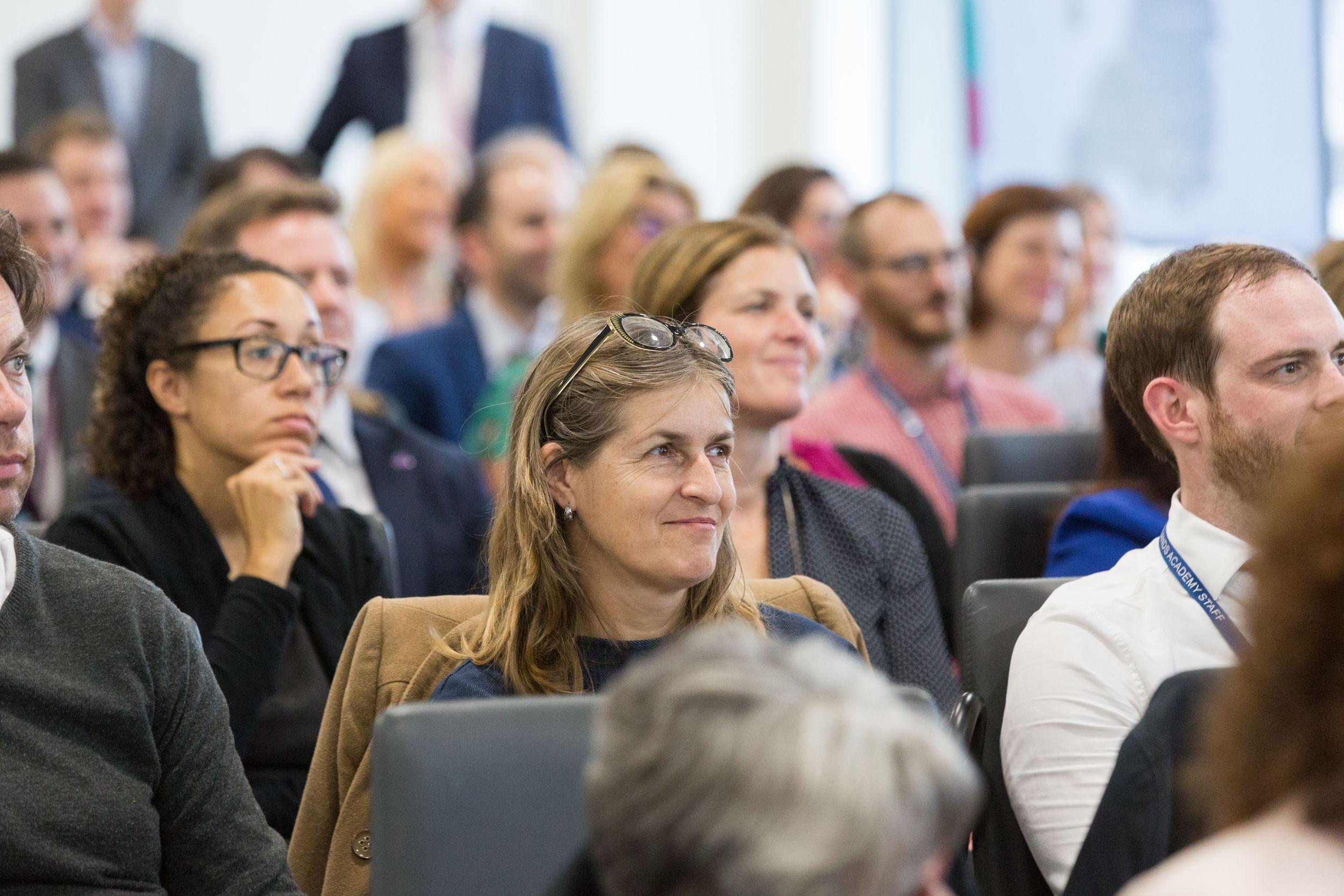 Audience enjoying a presentation